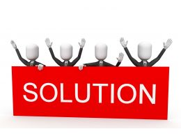 3d_men_as_team_with_word_solution_hoarding_stock_photo_Slide01
