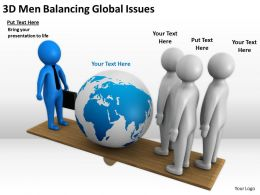 3D Men Balancing Global Issues Ppt Graphics Icons Powerpoin