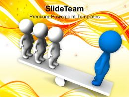 3d Men Balancing On Seesaw Business Powerpoint Templates Ppt Themes And Graphics 0113