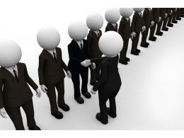 3d Men Business Choice Concept Stock Photo