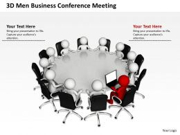 3D Men Business Conference Meeting Leadership Concept Ppt Graphics Icons