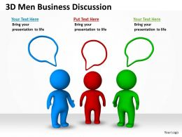 3D Men Business Discussion Ppt Graphics Icons
