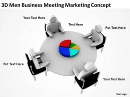 3D Men Business Meeting Marketing Concept Ppt Graphic Icon