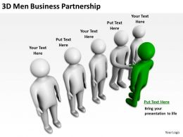 3D Men Business Partnership Ppt Graphics Icons Powerpoint