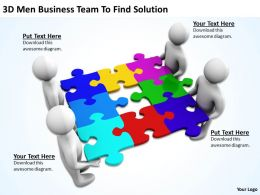 3D Men Business Team To Find Solution Ppt Graphics Icons Powerpoint