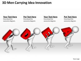 3D Men Carrying Idea Innovation Ppt Graphics Icons Powerpoint