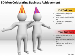3D Men Celebrating Business Achievement Ppt Graphics Icons Powerpoint