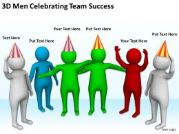 3D Men Celebrating Team Success Ppt Graphics Icons Powerpoint