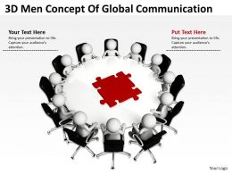 3D Men Concept Of Global Communication Ppt Graphics Icons