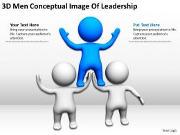 3D Men Conceptual Image Of Leadership Ppt Graphics Icons