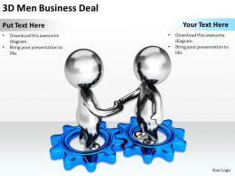 3D Men Conecptual Image Of Business Deal Ppt Graphics Icons