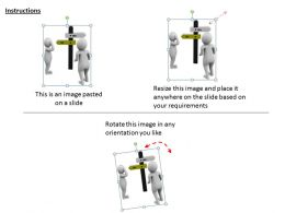 3d Men Confused In Two Options Ppt Graphics Icons Powerpoint