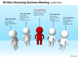 3D Men Discussing Business Meeting Leadership Ppt Graphics Icons