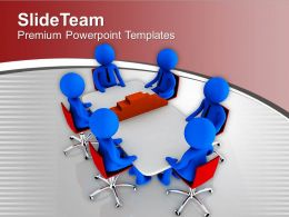 3d Men Discussing On Construction PowerPoint Templates PPT Themes And Graphics 0213