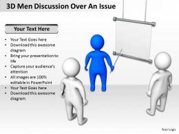 3D Men Discussion Over An Issue Ppt Graphics Icons