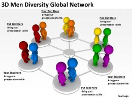 3D Men Diversity Global Network Ppt Graphics Icons Powerpoint
