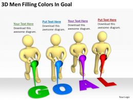 3D Men Filling Colors In Goal Ppt Graphics Icons Powerpoint