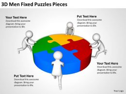 3D Men Fixed Puzzles Pieces Ppt Graphics Icons