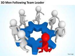 3D Men Following Team Leader Ppt Graphics Icons Powerpoint