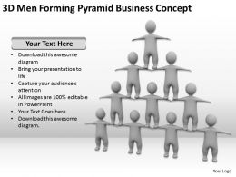 3D Men Forming Pyramid Business Concept Ppt Graphics Icons Powerpoint