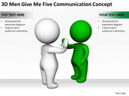 3d_men_give_me_five_communication_concept_ppt_graphics_icons_powerpoint_Slide01