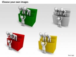 3d Men Giving Help To Climb Up Ppt Graphics Icons Powerpoint