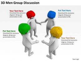 3D Men Group Discussion Ppt Graphics Icons Powerpoint