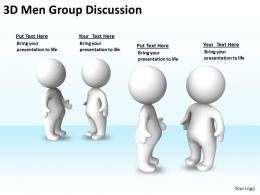 3D Men Group Discussions Ppt Graphics Icons Powerpoint