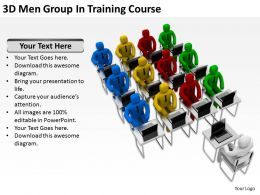 3D Men Group In Training Course Ppt Graphics Icons