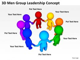3D Men Group Leadership Concept Ppt Graphics Icons