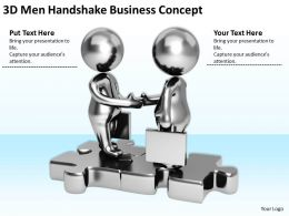 3D Men Handshake Business Concept Ppt Graphics Icons Powerpoint