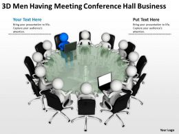 3D Men having Meeting conference hall Business Ppt Graphics Icons