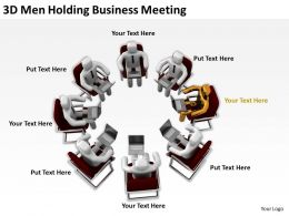 3D Men Holding Business Meeting Ppt Graphics Icons Powerpoint