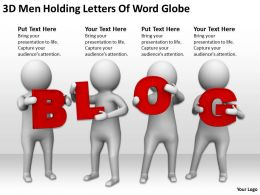 3D Men Holding Letters Of Word Blog Ppt Graphics Icons Powerpoint