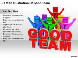 3D Men Illustration Of Good Team Ppt Graphics Icons Powerpoint