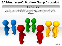 3D Men Image Of Business Group Discussion Ppt Graphics Icons