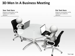 3D Men In A Business Meeting Ppt Graphics Icons