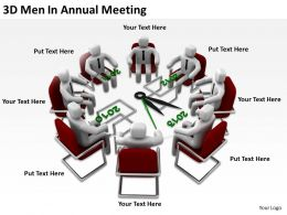 3D Men In Annual Meeting Ppt Graphics Icons