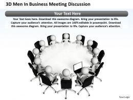3D Men In Business Meeting Discussion Ppt Graphics Icons