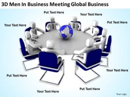 3D Men In Business Meeting Global Business Ppt Graphics Icons Powerpoint