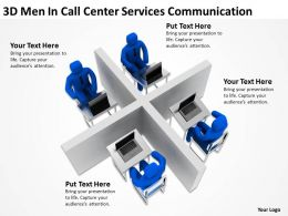 3D Men In Call Center Services Communication Ppt Graphic Icon