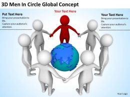 3D Men In Circle Global Concept Ppt Graphics Icons Powerpoint