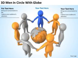 3D Men In Circle With Globe Ppt Graphics Icons Powerpoint