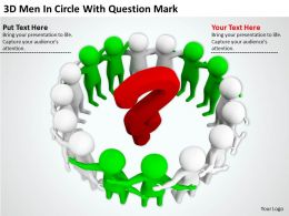 3D Men In Circle With Question Mark Ppt Graphics Icons PowerPoint