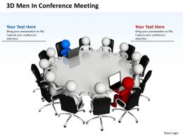 3D Men In Conference Meeting Business Team Ppt Graphics Icons