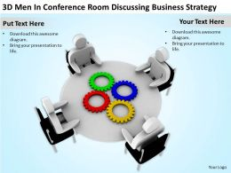 3D Men In Conference Room Discussing Business Strategy Ppt Graphics Icons Powerpoint