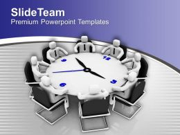 3d Men In Meeting Business Planning PowerPoint Templates PPT Themes And Graphics 0213