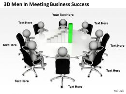 3D Men In Meeting Business Success Ppt Graphic Icon