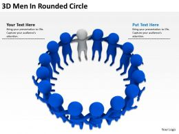 3D Men In Rounded Circle Ppt Graphics Icons Powerpoint