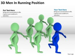 3D Men In Running Position Ppt Graphics Icons Powerpoint